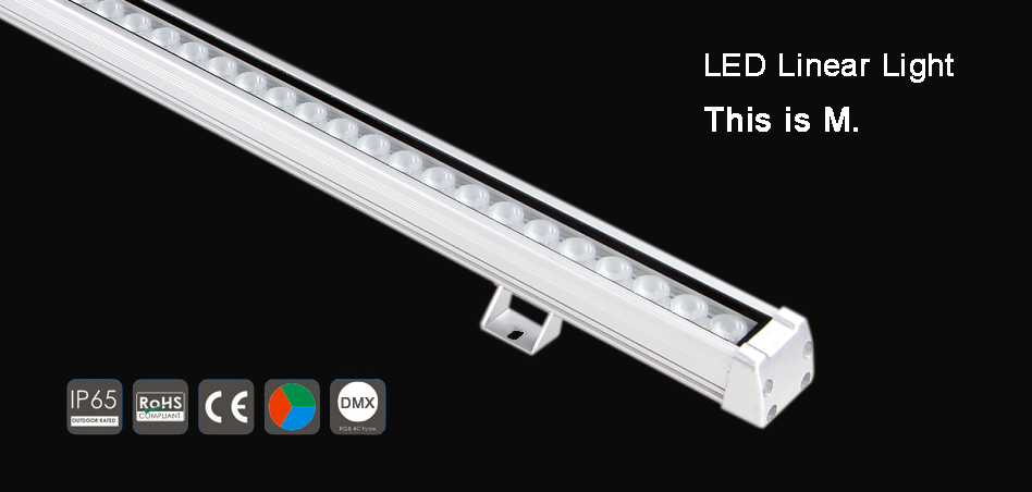 The New high power DMX Waterproof led linear wall washer light M Series/IP65/CE(Control mode DMX or Video or steady color) & The New high power DMX Waterproof led linear wall washer light M ...